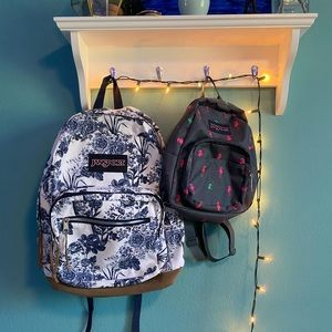 2 Jansport backpacks, One regular size one mini